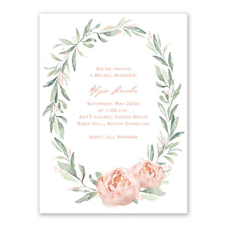 Blush Beauty Bridal Shower Invitation