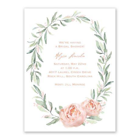 Blush Beauty - Bridal Shower Invitation