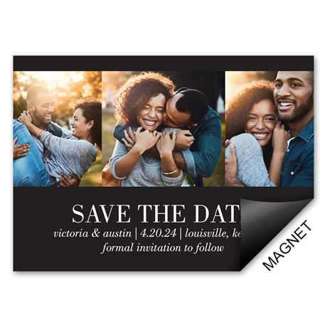 Stunning Snapshots Save the Date Magnet