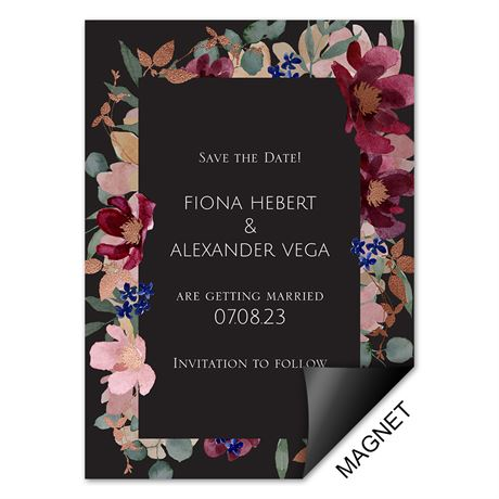 Striking Floral - Save the Date Magnet