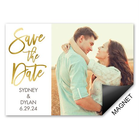 Sparkling Statement Save the Date Magnet
