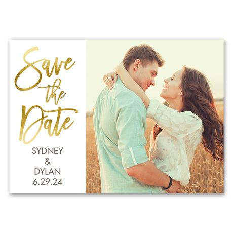 Sparkling Statement - Save the Date Magnet