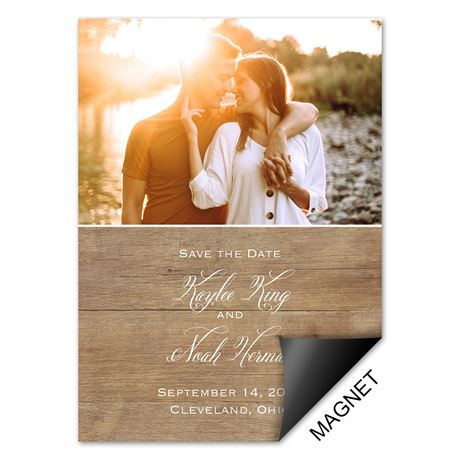 Rustic Photo - Save the Date Magnet