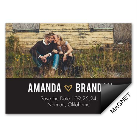 Gold Sparkle - Save the Date Magnet