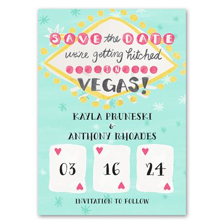 Lucky in Love - Save the Date Magnet
