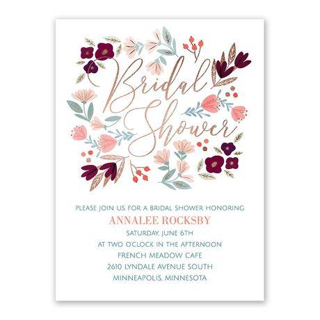 Whimsical Blooms Bridal Shower Invitation