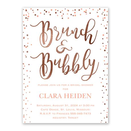 Glitzy Brunch Bridal Shower Invitation
