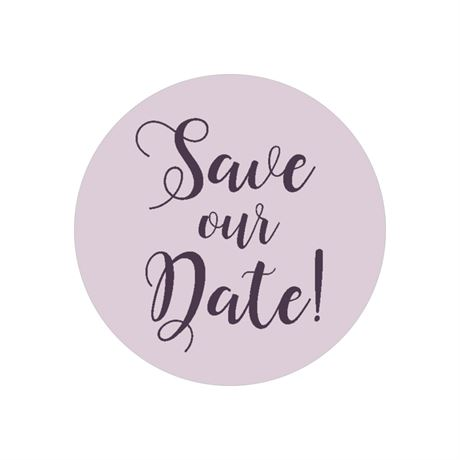 Save our Date Envelope Seal