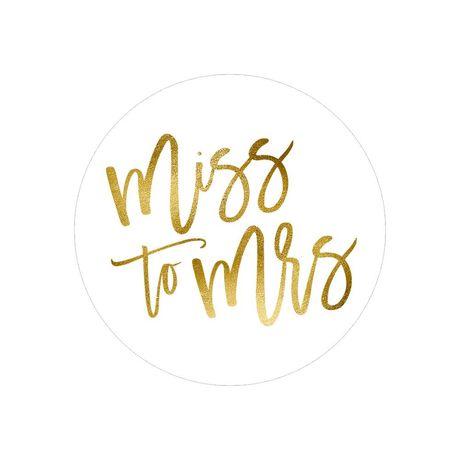 Miss to Mrs. - Envelope Seal