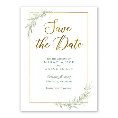 Greens and Gold Save the Date