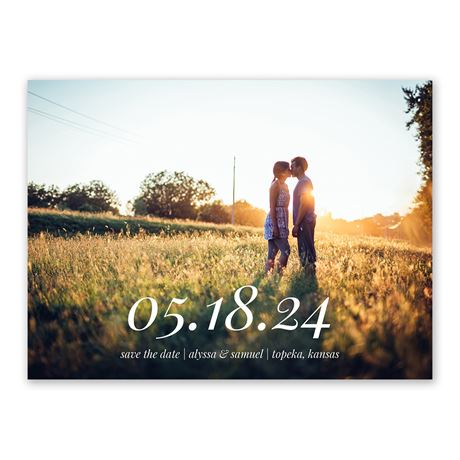 Bold Date Save the Date
