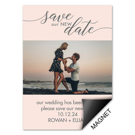 Save our New Date Change the Date Magnet