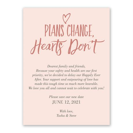 Plans Change - Change the Date