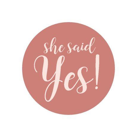 She Said Yes - Envelope Seal