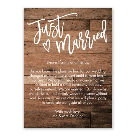 Rustic Heart Wedding Announcement