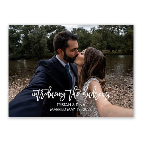Introducing Wedding Announcement