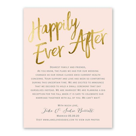 Happily Ever After - Wedding Announcement