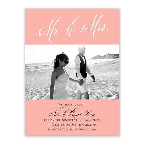 Mr. and Mrs. - Wedding Announcement