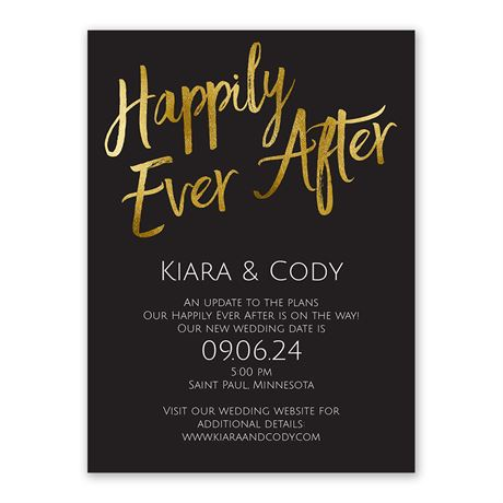Happily Ever After Change the Date