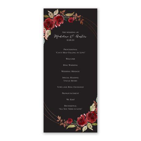 Lavish Rose Wedding Program