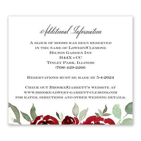 Lovely Rose Information Card