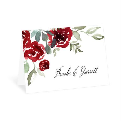 Lovely Rose Thank You Card