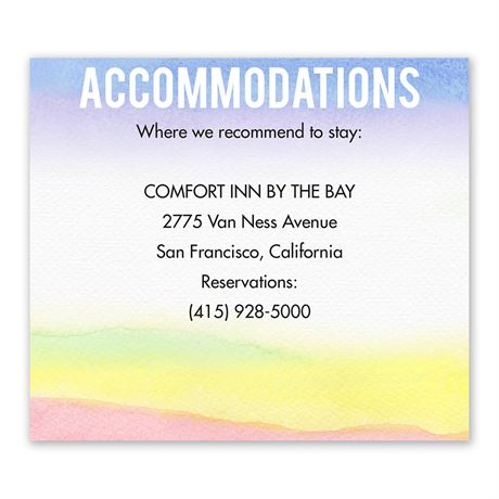Painted Rainbow Information Card
