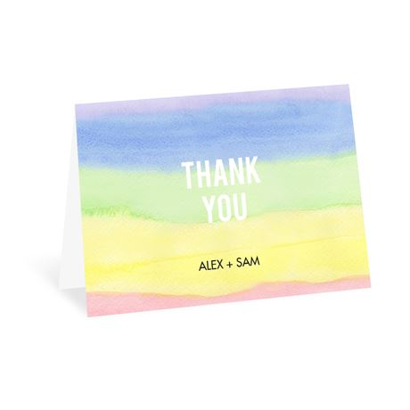 Painted Rainbow Thank You Card