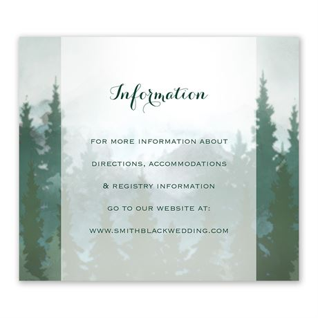 In the Pines - Information Card