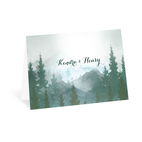 In the Pines Thank You Card