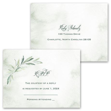 Breathtaking - Invitation with Free Response Postcard