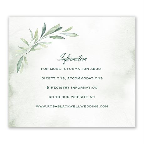 Breathtaking Information Card