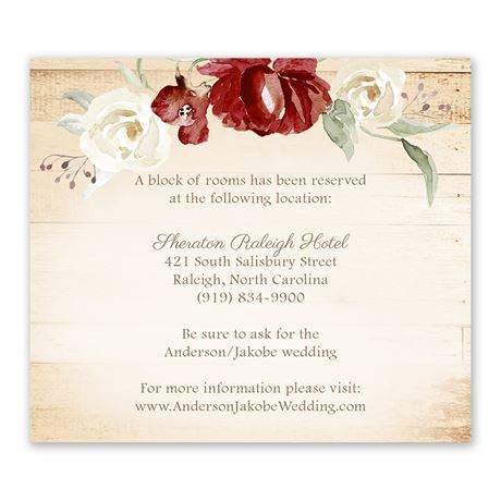 Framed in Floral Brick Information Card
