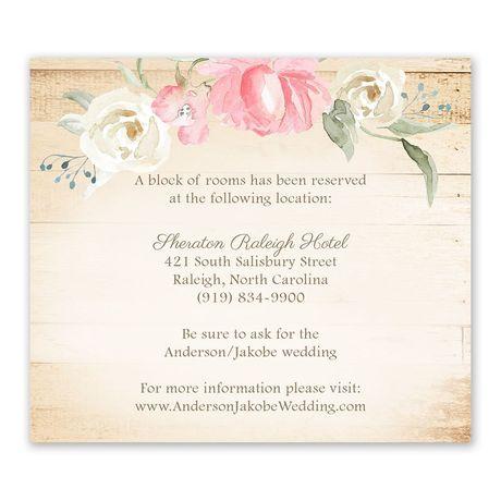 Framed in Floral Melon Information Card