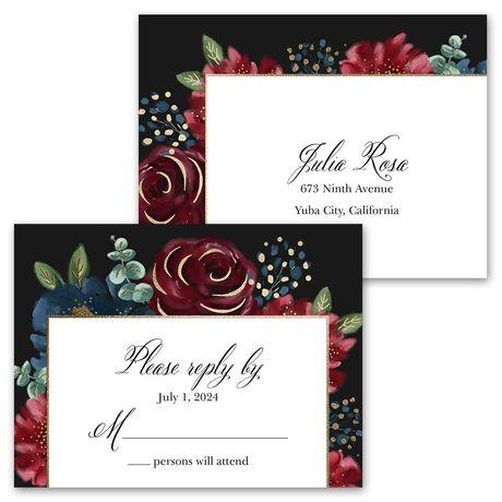 Opulence - Invitation with Free Response Postcard