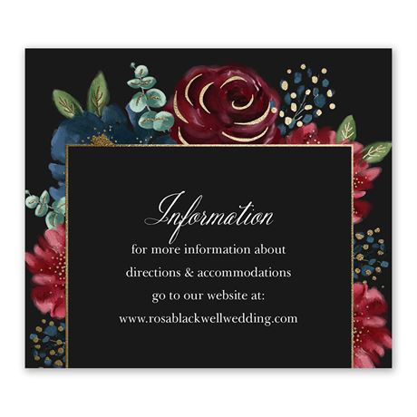 Opulence - Information Card