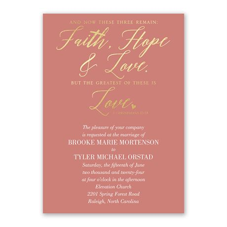 The Greatest is Love - Invitation with Free Response Postcard