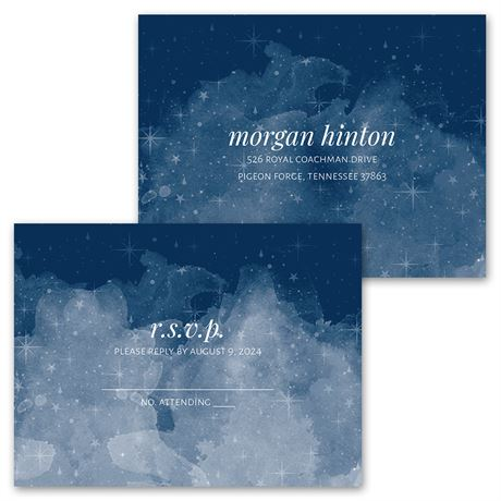 Starry Sky - Invitation with Free Response Postcard