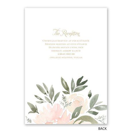 Soft Petals - Invitation with Free Response Postcard