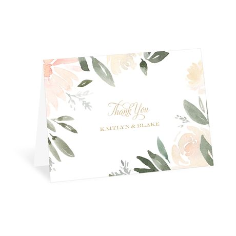 Soft Petals - Thank You Card