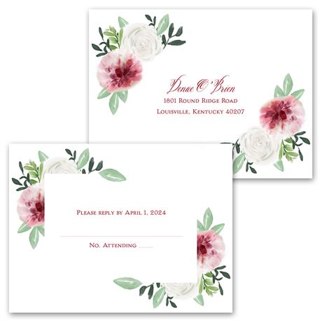 In Bloom - Invitation with Free Response Postcard