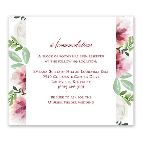 In Bloom - Information Card