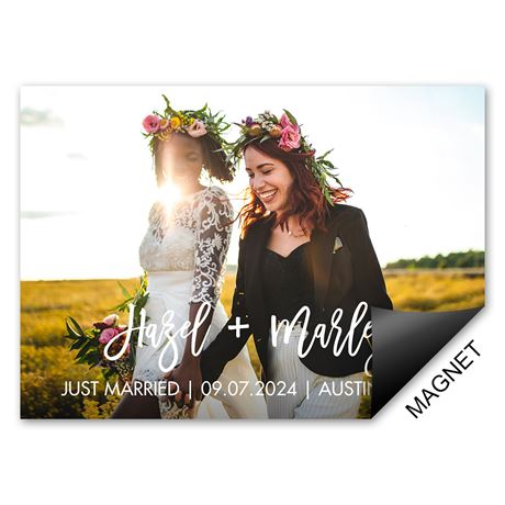 Two of Us Wedding Announcement Magnet