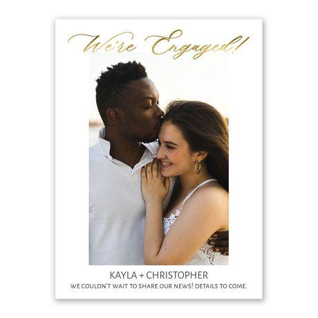 Golden Engagement Announcement