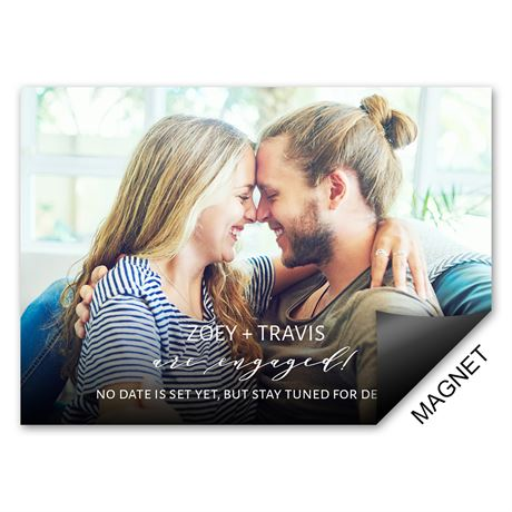Me and You Engagement Announcement Magnet