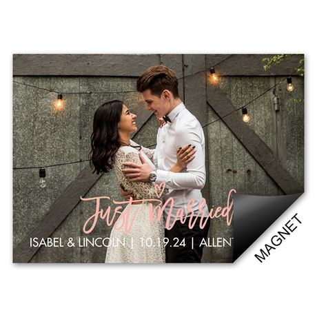 Just Wed - Wedding Announcement Magnet