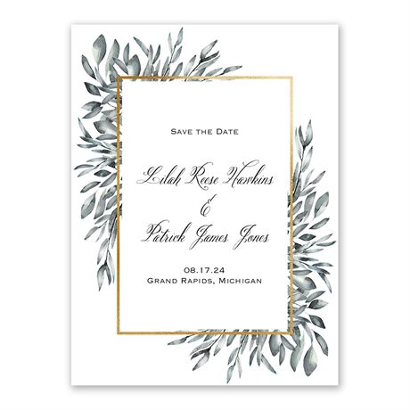 Gilded Greens Save the Date