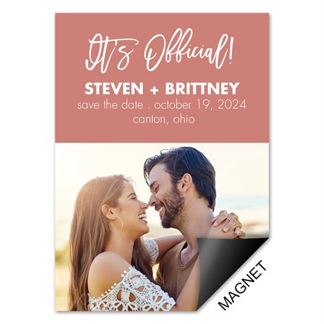 Make It Official - Save the Date Magnet