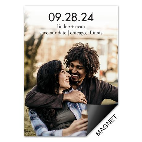 Big Day Save the Date Magnet