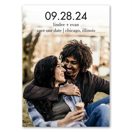 Big Day - Save the Date Magnet
